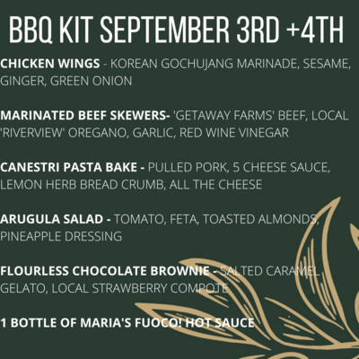 Labour Day BBQ Kit - SATURDAY Sep 4th