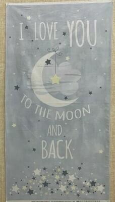 Moon and Stars Grey Panel