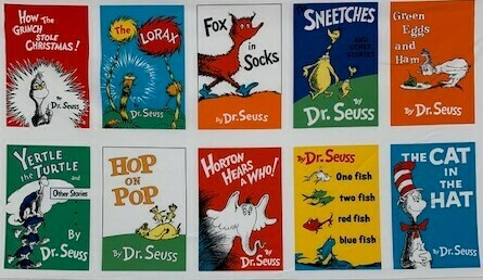 Dr. Seuss Book Covers Panel