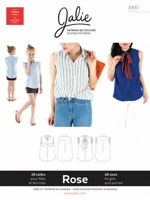 Rose Sleeveless Button-down