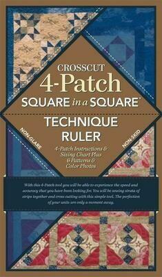 Crosscut 4-Patch Square in a Square Technical Ruler