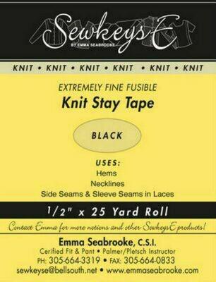 Black Knit Stay Tape