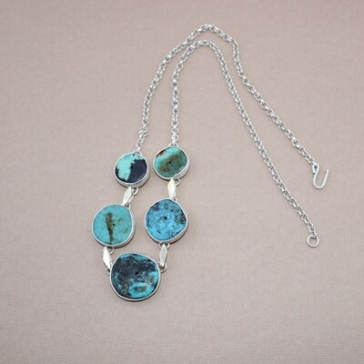 Turquoise Star Linked Necklace