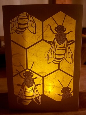Bee Luminaria Card (2pk and 6 pk)