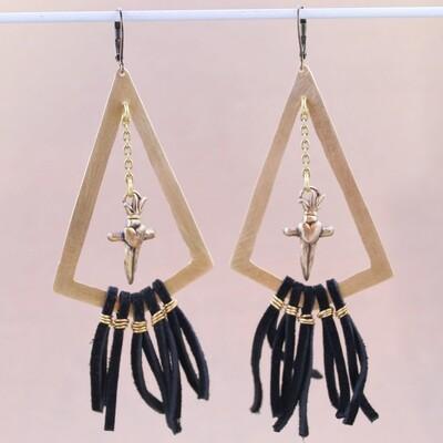 Dagger & Fringe Statement Earrings
