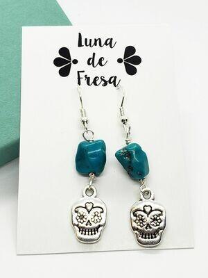 Turquoise & Calavera Earrings