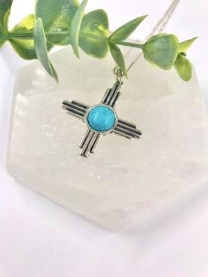 Large Turquoise Zia Necklace
