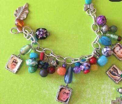 Frida Kahlo Charm Bracelet