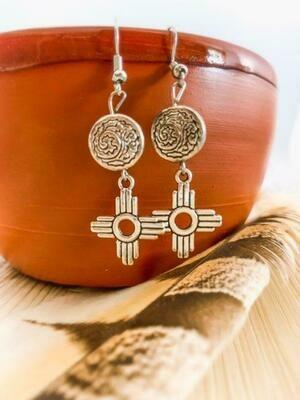 Zia Medallion Earrings