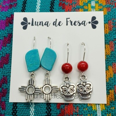New Mexico Love Earrings (Two Sets!)