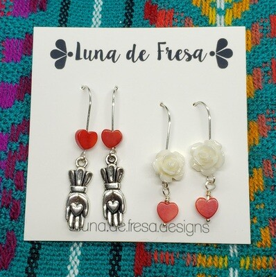 Amor Eterno Earrings (Two Sets!)