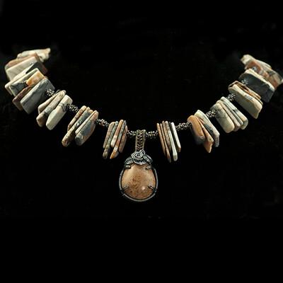 Jasper Slice Necklace