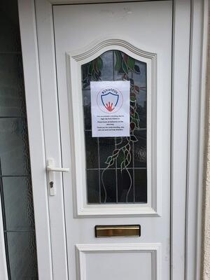 Laminated Front door poster