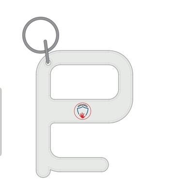 Hygiene keys with ShieldUs logo