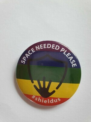 Rainbow shieldus badge