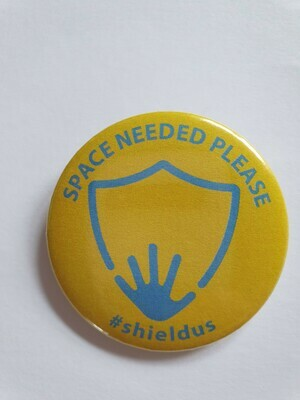 Blue and yellow 44mm space needed please badge