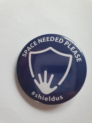 Navy blue space needed badge