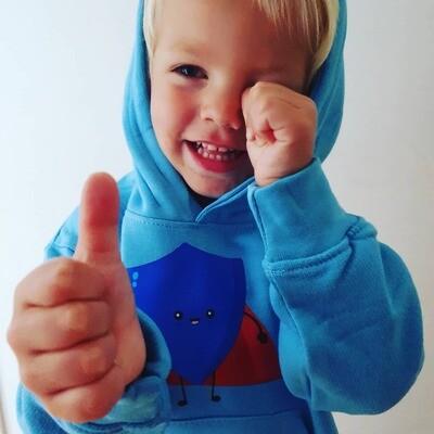 Age 3-4 shielded superhero hoodie
