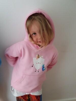 Age 2 unicorn shield hoodie