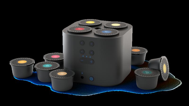 Moodo Smart aroma diffuser zwart met batterij incl capsule set