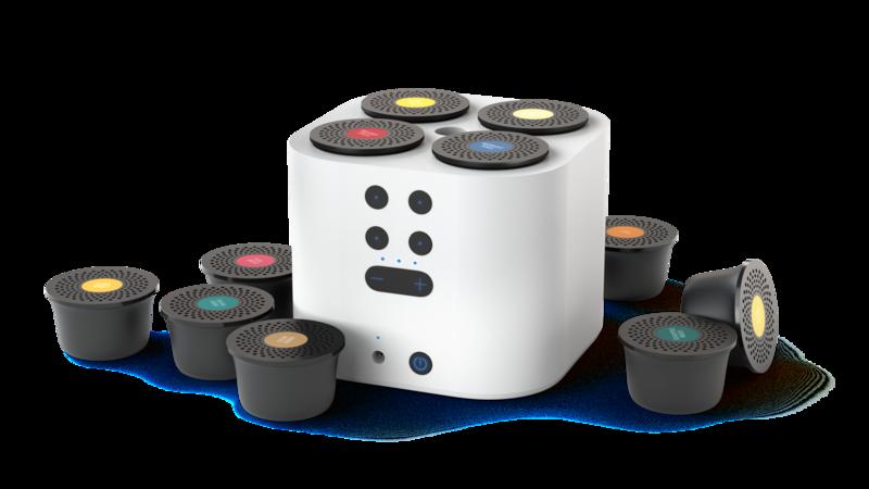 Moodo Smart aroma diffuser wit met batterij incl capsule set
