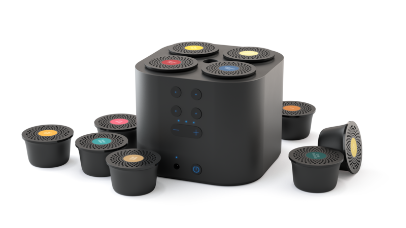 Moodo Smart aroma diffuser zwart met stekker incl capsule set