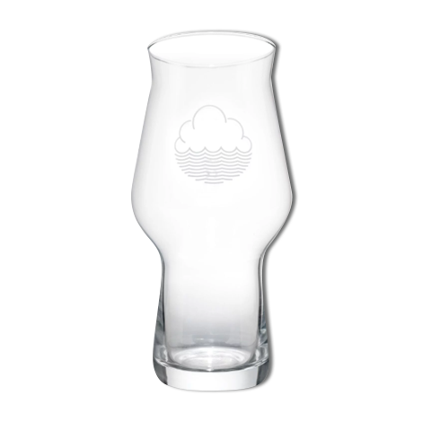 Cloudwater Two Thirds White Logo Glass