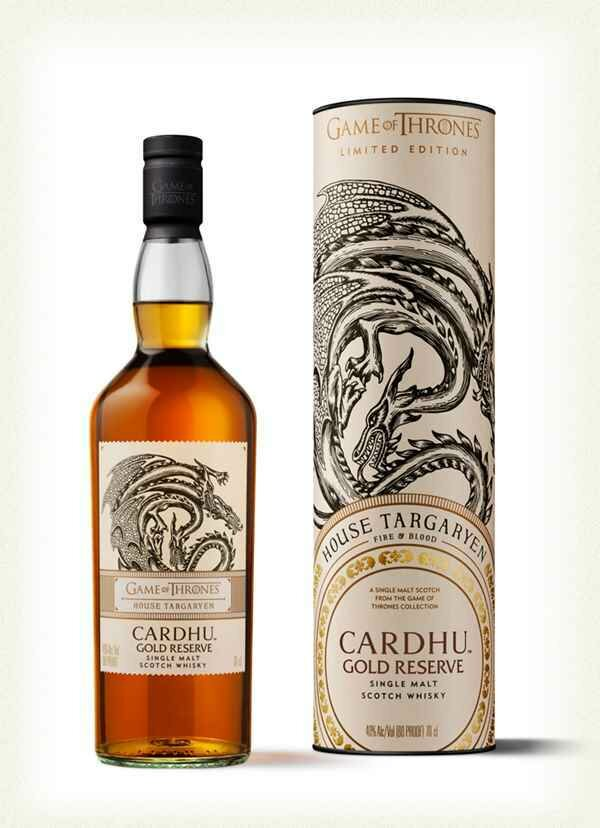 House Targaryen & Cardhu Gold Reserve Whisky