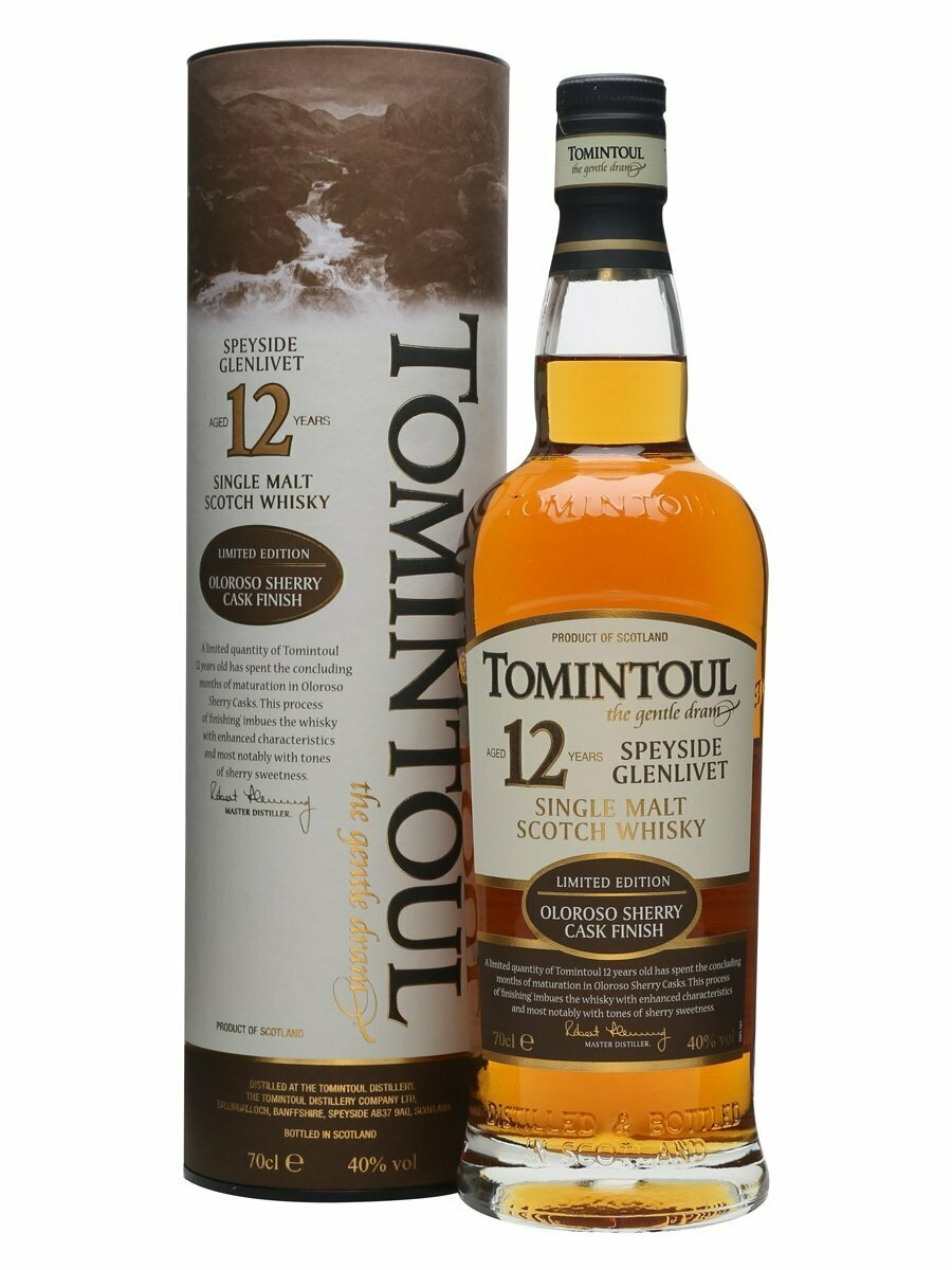 Tomintoul 12 Year Oloroso Sherry Cask Malt Whisky