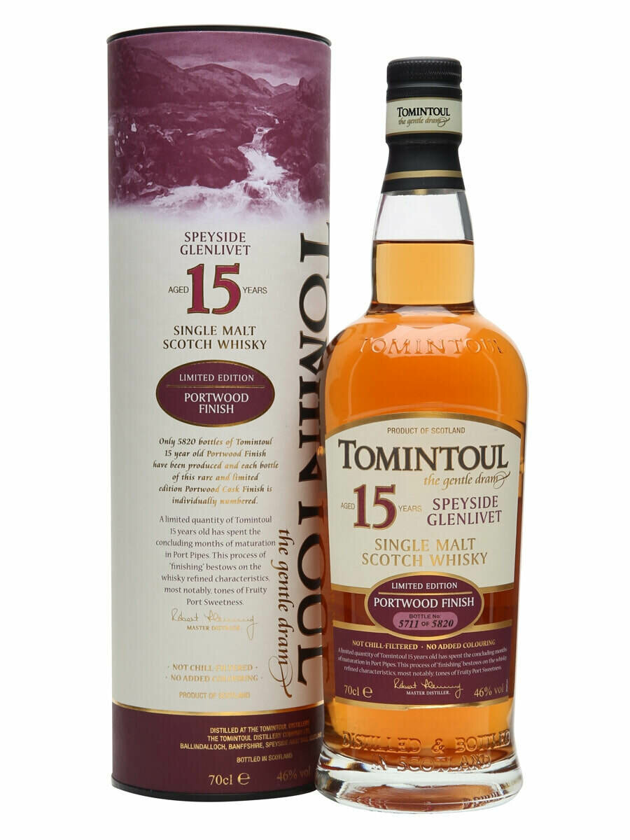 Tomintoul 15 Year Old Portwood Finish Malt Whisky