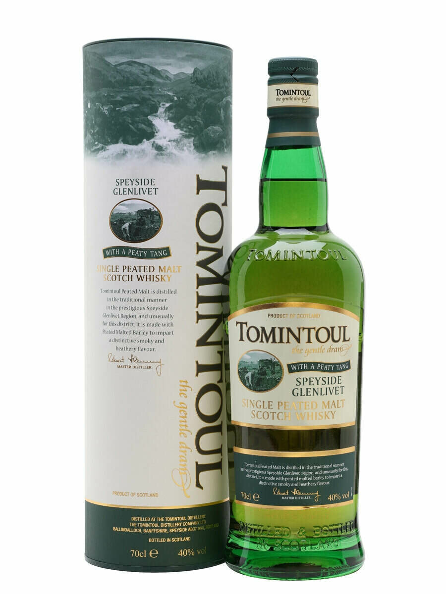Tomintoul with a Peaty Tang Malt Whisky