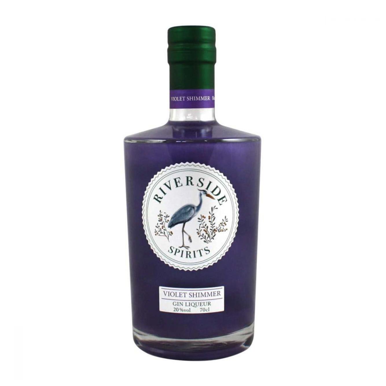 Riverside Spirits Violet Shimmer Gin Liqueur