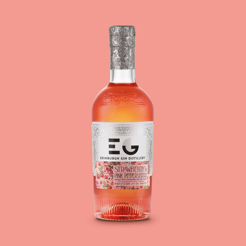Edinburgh Strawberry & Pink Pepper Gin Liqueur