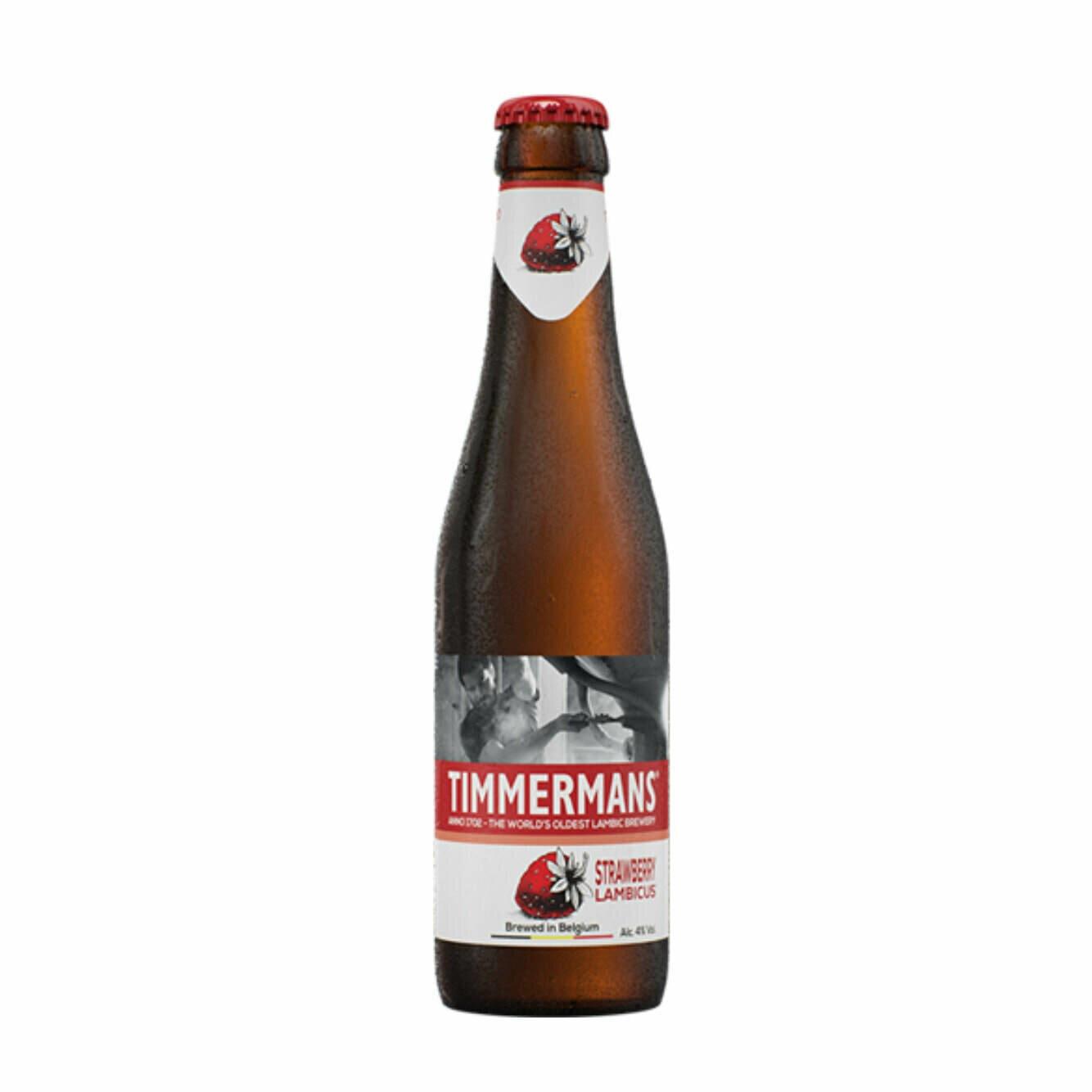Timmermans Strawberry Lambic Bottle