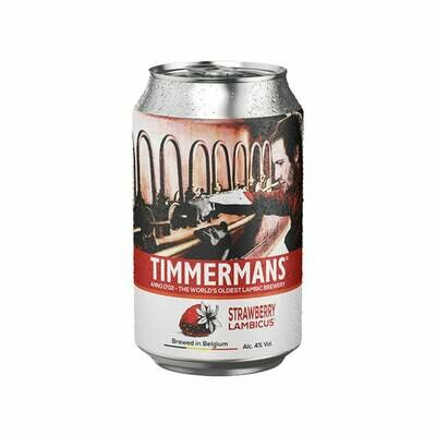 Timmermans Strawberry Lambic Can