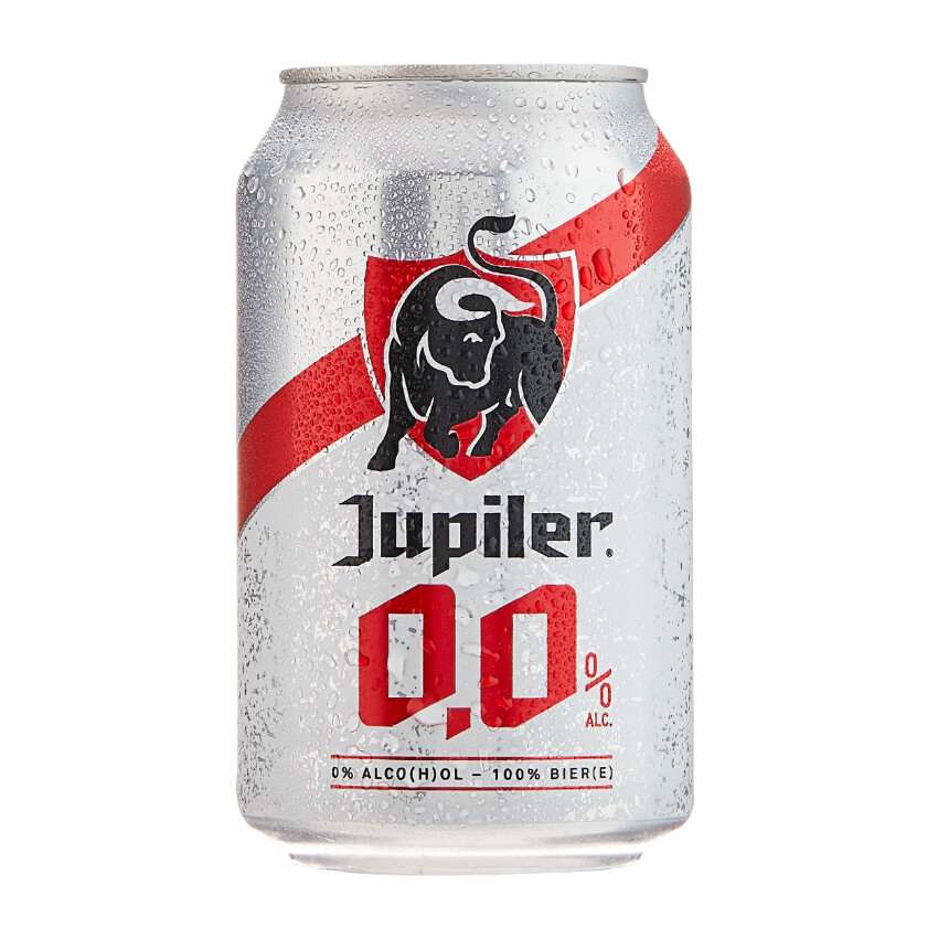 Jupiler 0.0% Non-Alcoholic Beer Can
