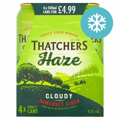 Thatchers Haze Cloudy Cider 4 Pack