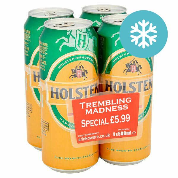Holsten Pils Lager 4 x 500ml £5.99