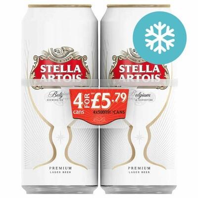 Stella Artois Lager 4 Pack 500ml