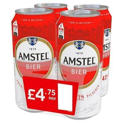 Amstel Bier Premium Pilsener 4 Pack £4.75