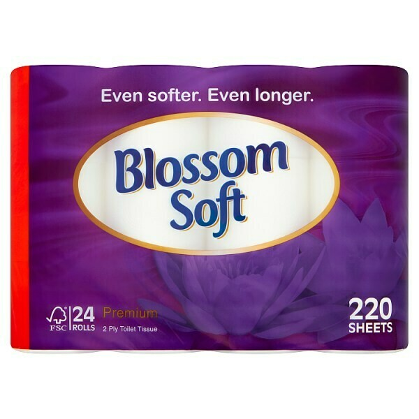 Blossom Soft Toilet Roll 24 Rolls (LOCAL Deliveries)