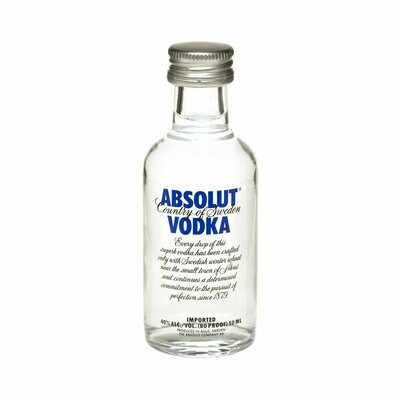 Absolut Blue Vodka Miniature