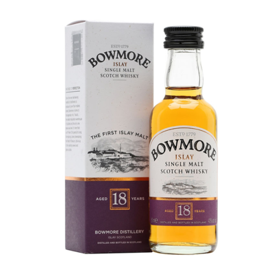 Bowmore 18yr Old Whisky Miniature