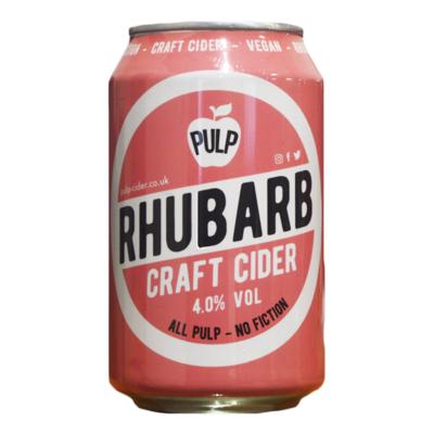 Pulp Rhubarb Cider Can