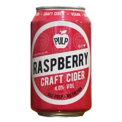 Pulp Raspberry Cider Can
