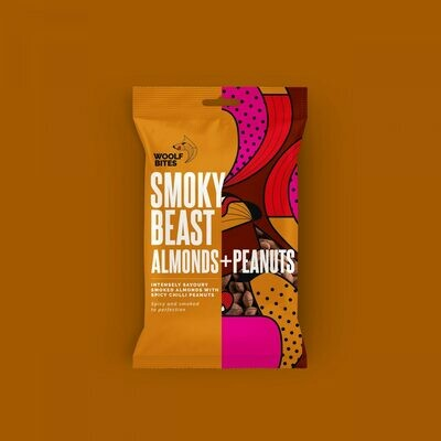 Woolf Bites Smoky Beast Almonds + Peanuts