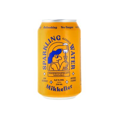Mikkeller Sparkling Alcoholic Water Passionfruit Mango Hard Seltzer