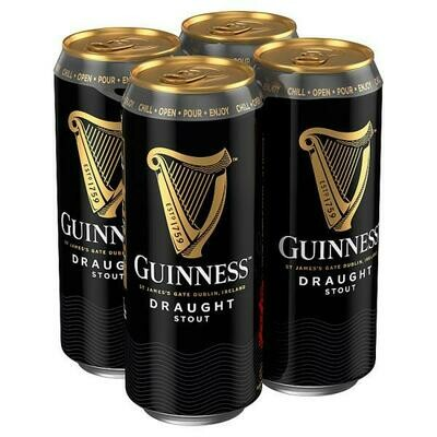 Guinness Draught Stout Beer 4 Pack (470ml)