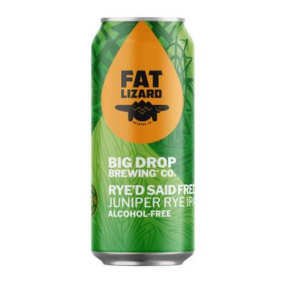 Big Drop x Fat Lizard Rye'd Said Fred Alcohol Free Rye IPA