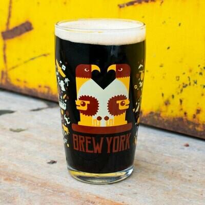 Brew York Brent Pint Glass